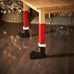 4Pcs/Set Elf Santa Chair Table Leg Covers Christmas Table Decoration – Red