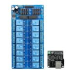 Ethernet Control Module LAN WAN Network Web Server IP TCP RJ45 Port + 16-Channel Relay Expansion Board for Arduino iOS Raspberry Pi 16 CHs Relay