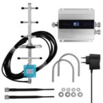 LCD GSM900MHz Double-end Phone Signal Booster Phone Signal Repeater Signal Amplifier Set with Yagi Antenna – EU Plug