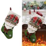 Christmas Socks Gift Bag Christmas Tree Pendant Christmas Decor – Green/Style 1