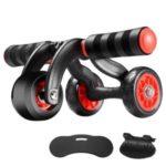 3 Wheels Ab Roller Wheel Rebound Workout Roller Wheel Exercise Fitness Equipment Abdominal Roller – Black