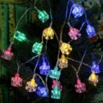 2.1M 20-LED Multi-Color Ice Block Lamp Fairy String Light for Christmas Party Home Outdoor Decoration