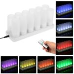 12Pcs/Set Color Changing LED Flickering Flameless Tealight Candle Lights with Charging Base for Christmas Party Festivals – EU Plug