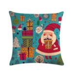 Christmas Decor Santa Claus Pattern Pillowcase Cushion Cover – Style 1