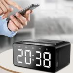 BT508 3 in 1 Wireless Charging LED Alarm Clock Power Bluetooth Speaker