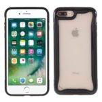 For iPhone 7/8 Plus 5.5 inch 3-in-1 PC + TPU Hybrid Phone Cover Shell – Black