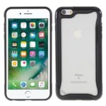 Matte Texture 3-in-1 PC + TPU Hybrid Phone Case Cover for iPhone 6s/6 4.7-inch – Black