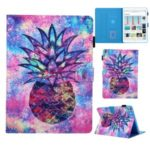 Pattern Printing Card Slots Stand Leather Tablet Case for iPad 10.2 (2019) – Pineapple