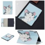 Pattern Printing Wide Clasp Stand Wallet Protective Leather Tablet Case for iPad Pro 11-inch (2018) – Cat