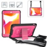360° Shockproof Kickstand PC + TPU Tablet Combo Case [with Shoulder Strap] for iPad Mini/Mini 2/Mini 3 – Pink