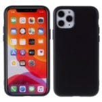 Detachable Side Buttons Cover Liquid Silicone Phone Shell for iPhone 11 Pro 5.8 inch – Black