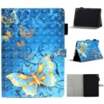 Pattern Printing Light Spot Decor Leather Wallet Stand Tablet Shell for iPad 10.2 (2019) – Gold Butterflies