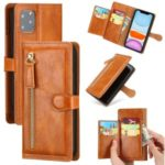 Vintage Style Multiple Card Slots Wallet Leather Phone Cover Case for iPhone 11 Pro 5.8-inch – Light Brown