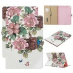 Pattern Printing PU Leather Flip Tablet Cover for iPad Pro 10.5-inch (2017)/Air 10.5 inch (2019)/iPad 10.2 (2019) – Pink Flower