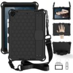 Honeycomb Texture PC + Silicone Tablet Hybrid Shell with Shoulder Strap for iPad 10.2 (2019)/iPad Pro 10.5-inch (2017)/iPad Air 10.5 inch (2019)  – Black