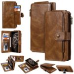Vintage Style Multifunctional PU Leather Wallet Phone Case Cover for iPhone 11 Pro 5.8-inch – Brown