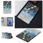Pattern Printing Wide Clasp Stand Wallet Tablet Leather Case for Samsung Galaxy Tab A 10.5 (2018) T590 T595 – Rhombus Pattern