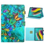 Pattern Printing Card Slots Flip Leather Cover for Samsung Galaxy Tab S6 – Colorful Butterflies