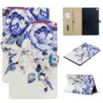 Pattern Printing PU Leather Flip Stand Tablet Case for Samsung Galaxy Tab A 10.1 (2019) T510 – Blue Flower