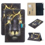 Pattern Printing Wallet Stand Flip Leather Case for Samsung Galaxy Tab A 8.0 Wi-Fi (2019) SM-T290/T295 – Lion