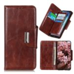 6 Card Slots Crazy Horse Leather Stand Case for Sony Xperia 8 – Brown