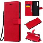 Wallet Leather Stand Case for Sony XZ5/Xperia 2/Xperia 5 – Red
