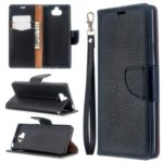Litchi Texture Leather Wallet Stand Case for 	Sony Xperia 8 – Black