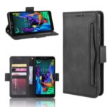 Wallet Leather Stand Phone Cover Case for LG K20 (2019) – Black