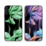 Luminous Tempered Glass PC + TPU Hybrid Phone Cover for Huawei Enjoy 10s – Fish