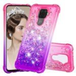 Gradient Glitter Powder Quicksand TPU Phone Case for Huawei Mate 30 Lite/nova 5i Pro – Rose / Purple