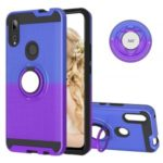 Gradient Color PC + TPU Case with Kickstand for Huawei P Smart Z/Y9 Prime 2019 – Blue/Purple
