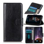 Crazy Horse Leather Wallet Case for Huawei Honor V30 5G/V30 – Black