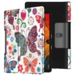 Pattern Printing Stand Leather + PC Tablet Case for Lenovo Yoga Smart Tab 10.1/Tab 5 YT-X705 – Butterfly
