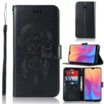 Imprinted Dream Catcher Owl PU Leather Wallet Case for Xiaomi Redmi 8A – Black