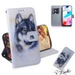 Pattern Printing PU Leather Wallet Stand Case for Xiaomi Redmi 8 – Black and White Wolf