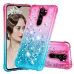 Gradient Glitter Powder Quicksand TPU Phone Case for Xiaomi Redmi Note 8 Pro – Rose / Baby Blue