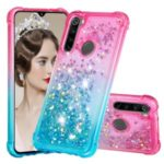 Gradient Glitter Powder Quicksand Phone Case for Xiaomi Redmi Note 8 – Rose / Baby Blue