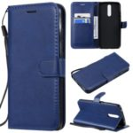 Pure Color Wallet Leather Shell Casing for Xiaomi Redmi 8 – Blue