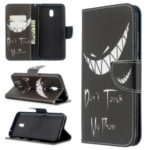 Pattern Printing Wallet Stand Leather Phone Cover for Xiaomi Redmi 8A – Don't Touch My Phone