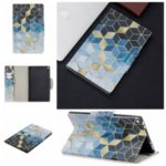 Pattern Printing Wide Clasp Wallet Stand Leather Shell for Amazon Fire HD 8 (2017)/(2018) – Rhombus Pattern