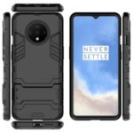 Plastic + TPU Hybrid Case with Kickstand for OnePlus 7T – Black