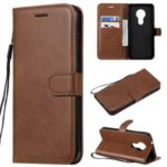 Wallet Leather Stand Case for Nokia 7.2 – Brown