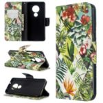 Light Spot Decor Pattern Printing Wallet Leather Phone Cover for Nokia 7.2/6.2 – Plants