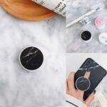 Universal Marble Pattern Printing IMD PC Foldable Kickstand for Smartphones Tablets, Etc. – Black