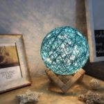 Ball Style Sepak Takraw Night Light USB Charging Desk Table Lamp – Blue