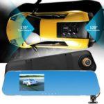 3.5-inch 1080P HD Dual Lens Car Rearview Mirror Camera Dash Cam IR DVR V40A