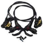 HB-875 MTB Hydraulic Disc Brake Front Rear Calipers Set 22mm Left Right Brake Lever Kit – Black