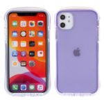 Rhombus Surface Drop-resistant PC TPU Phone Cover for iPhone 11 6.1 inch – Purple