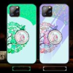 Luminous Tempered Glass PC + TPU Combo Case with Kickstand for iPhone 11 Pro Max 6.5 inch – Flowers