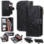 Multi-functional Retro Leather with Wallet Cell Case for iPhone XR 6.1 inch – Black